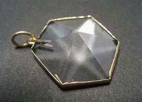 QUARTZ ROCK CRYSTAL - FLAT POINT PENDANT