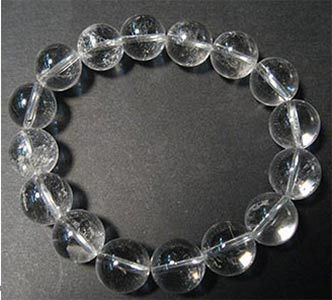 QUARTZ ROCK CRYSTAL - BALLS 12MM BRACELET