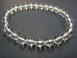 QUARTZ ROCK CRYSTAL - BALLS 4MM BRACELET