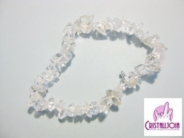 Quartz Crystal Gemstone Chip Bracelet
