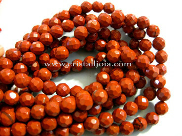 Red jasper 6mm Faceted Round Beads