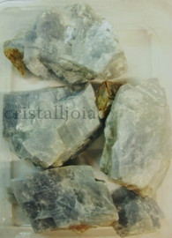 CALCITE ROUGH MINERAL BLUE PACKAGE. 7e