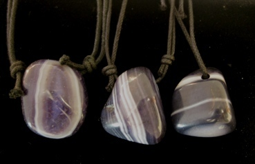 Hanging hole shot with lilac agate listed. 5e