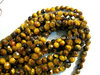 Tiger eye 4mm round faceted beads