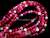PINK BANDED AGATE 4MM ROUND BEADS