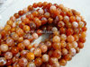 FIRE AGATE 6MM ROUND BEADS