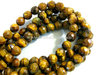 Tiger eye 8mm faceted round beads