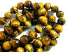 Tiger eye 10mm faceted round beads