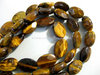 Tiger eye oval faceted beads