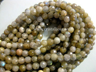Labradorite 5mm Faceted Round beads