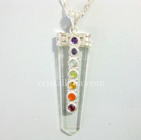 CHAKRA AND QUARTZ ROCY CRYSTAL - PENDANT POINT