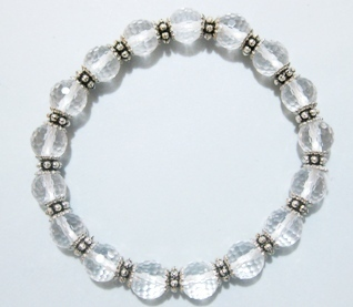 Crystal Quartz Metal Bracelet