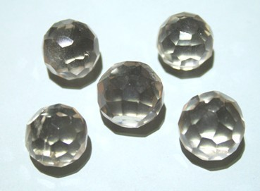 Quartz Crystal Faceted Ball ref:QCR016