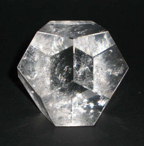 Geometric shape rock crystal quartz dodecahedron