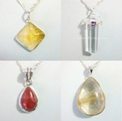 PENDANTS WITH SILVER