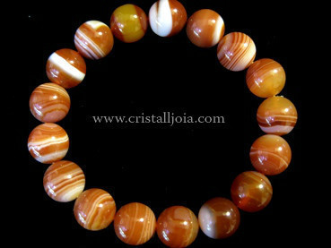 Red Agate 10mm Round Bead bracelet