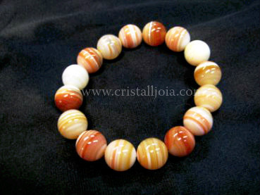 Red Agate 12mm Round Bead bracelet