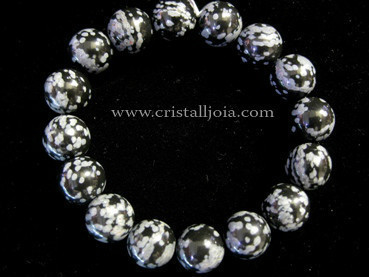 Pulsera Obsidiana Nevada Bola 12mm