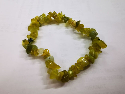 CHIP BRACELET GREEN JADE