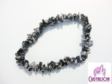 Obsidiana Nevada Pulsera Chip