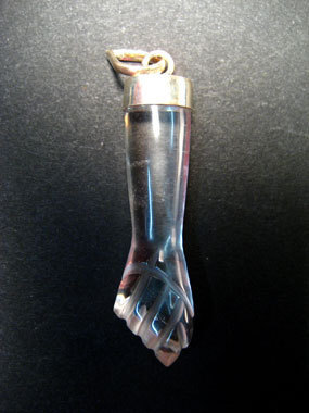 QUARTZ ROCK CRYSTAL - FIGA WITH SILVER PENDANT