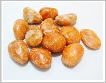 Orange Calcite Thumbled Stones 200 gr Pack