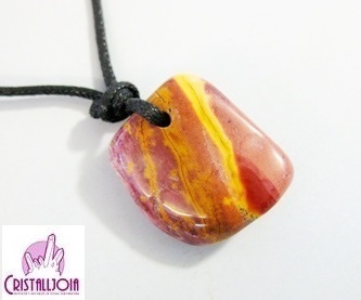 Mookaite Thumbled Stone Pendant with Hole
