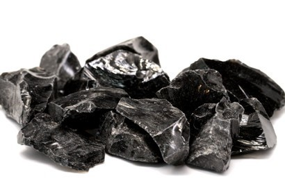 Obsidiana Negra Paquete Mineral en Bruto