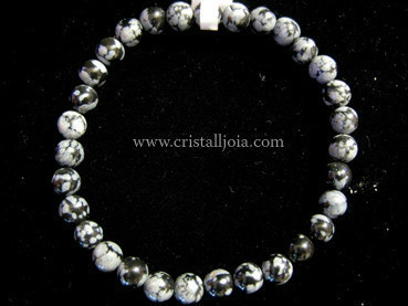 Pulsera Obsidiana Nevada Bola 6mm