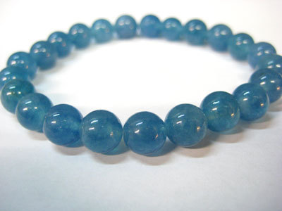 Angelite 8mm Round Bead Bracelet