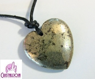 Pyrite Heart Pendant with Hole