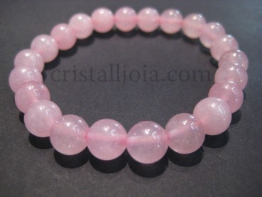 10mm Round Bead Bracelet Rose Quarts
