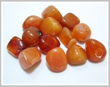 Carnelian Thumbled Stone Pack Ref:Cnl1