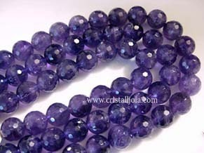 Amethyst 10mm faceted ball bead strands