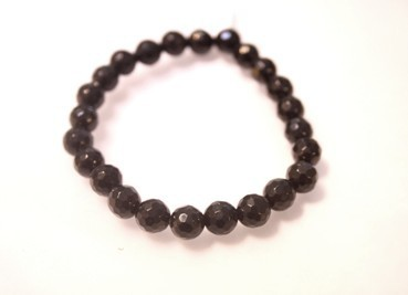 SHUNGIT BRACELET 8MM BALL STONED