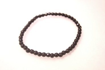 SHUNGIT BRACELET 4MM BALL STONED