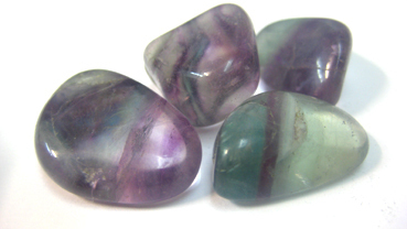 Tumbled 1w Multicolor Fluorite