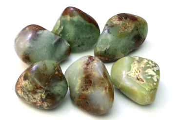 Tumbled 4e Green Chrysoprase