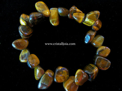 Tiger'S Eye bracelet leaves