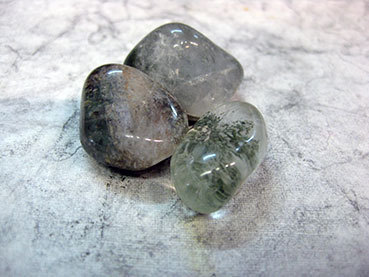 Tumbled 2e Quartz with Chlorite