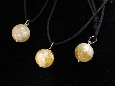 Ball pendant with citrine ring 4e