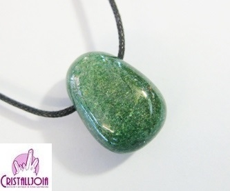 Green Fuchsite Thumbled Stone Pendant with Hole
