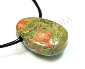 Unakite Oval Pendant With Hole