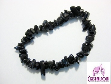 Black Obsidian gemstone Chip Bracelet