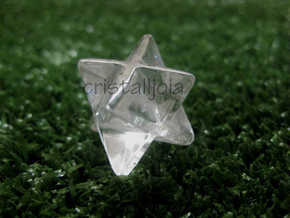 Quartz Rock Crystal - Merkabah Figure 15Mm