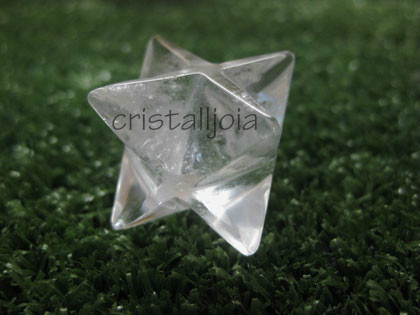 Quartz Rock Crystal - Merkabah Figure 20Mm