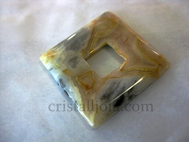 Agata Crazy Polished Square Pendant