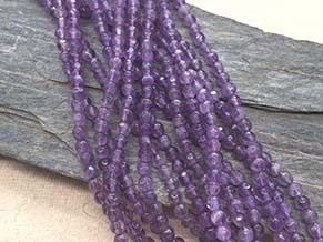 Amethyst 4mm faceted ball strands