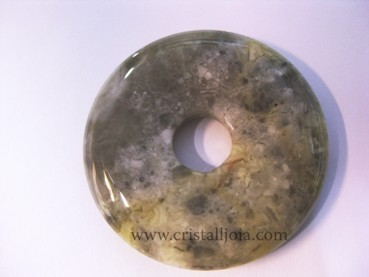 Crazy Agate Donut  Size 40Mm