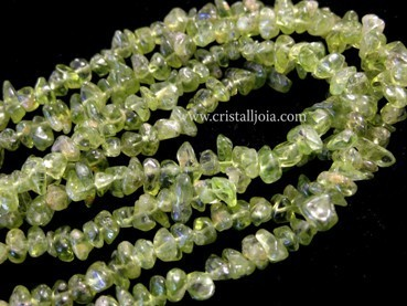 COLLAR CHIP LARGO DE OLIVINO